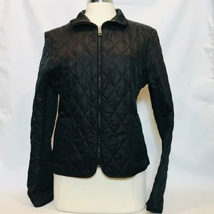 Burberry Black Quilted Jacket Size Xs/S